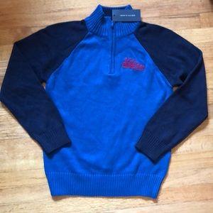 NWT - Hilfiger Kids 1/4 Zip Sweater...Sz. M 12-14